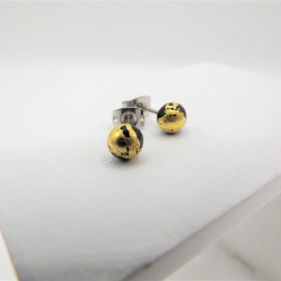 Black Stud Earrings by Helen Chalmers