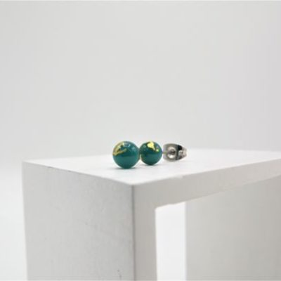 Forest Green Stud Earrings by Helen Chalmers