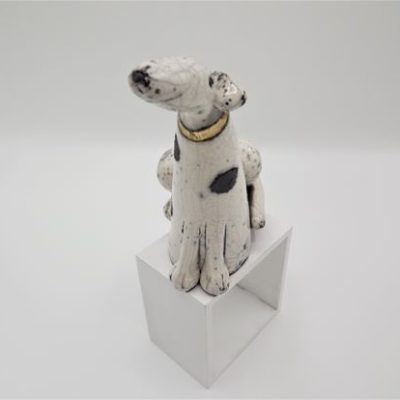 Raku Ceramic Dog Large by Rob Whelpton