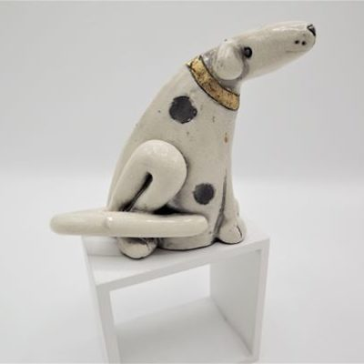 Raku Ceramic Dog Medium by Rob Whelpton