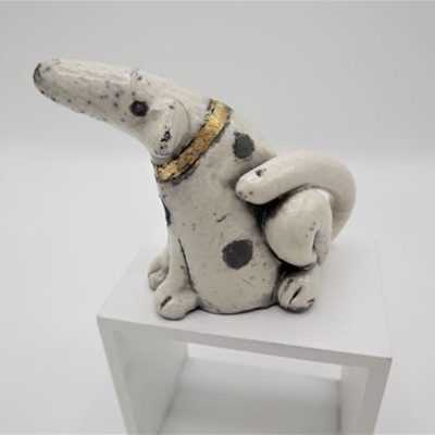 Raku Dog small by Rob Whelpton