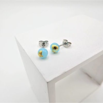 Sky Blue Stud Earrings by Helen Chalmers