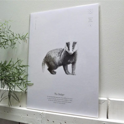 Badger Print by Creature Candy