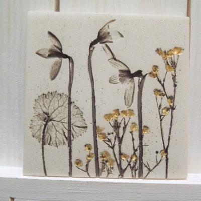 Gold Snowdrop Ellul Ceramic Tile