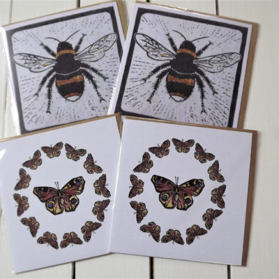 'Bees & Butterflies' Greeting Cards