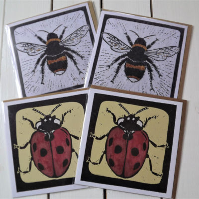 'Bees & Ladybirds' Greeting Cards