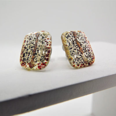 Black Speckle Japanese Inspired Studs by Helen Chalmers