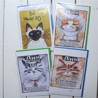 Cat Cards by Emily Stracey