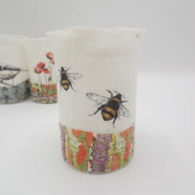 Felt Bee T-light Holder by Lindsey Tyson