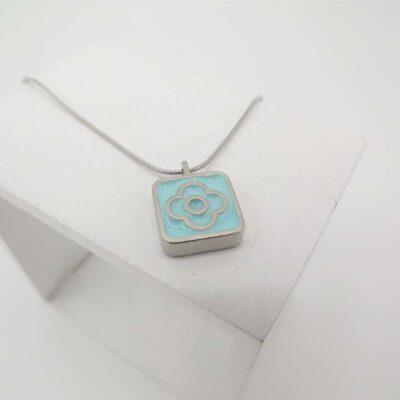 Blodyn Pendant in Turquoise by Koa