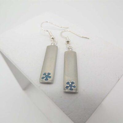 Blue Daisy Earrings by Koa
