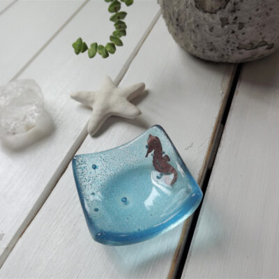 Jo Downs Small Earrings Dish with Copper Seahorse
