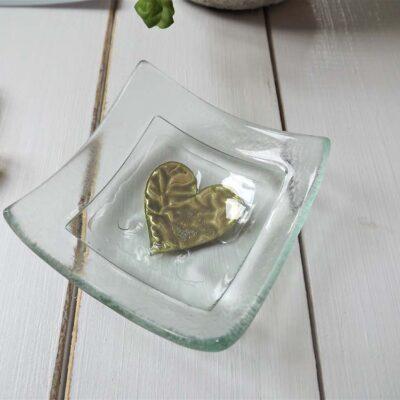 Jo Downs Jewellery Dish Gold Heart