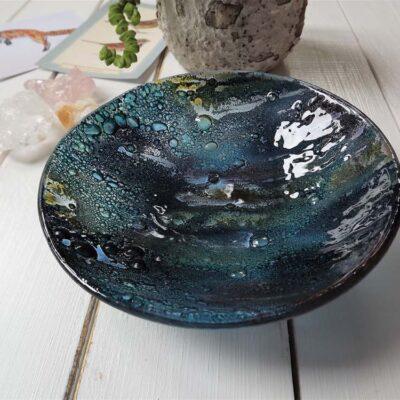 Jo Downs Round Dish Cosmic