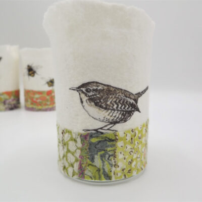 Felt Wren T-Light Holder by Lindsey Tyson