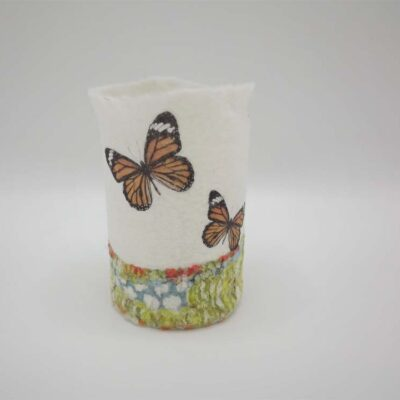 Felt Butterfly T-Light Holder by Lindsey Tyson