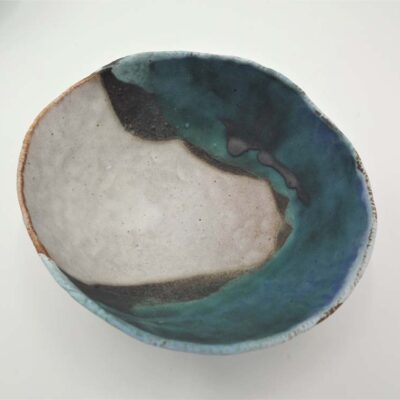Large Ceramic Landscape Bowl by Kirsti Hannah Brown