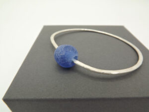 Eco Silver Bottle Bead Bangle by Sarah Drew