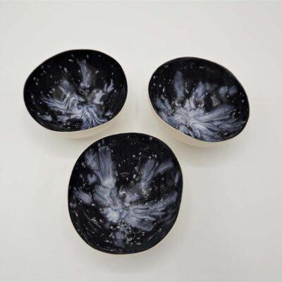 Glazed Porcelain T- Light Holders by Sinead O'Moore