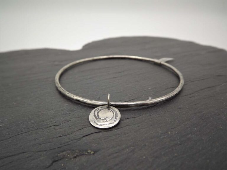 silverfish designs oxidised spiral bangle