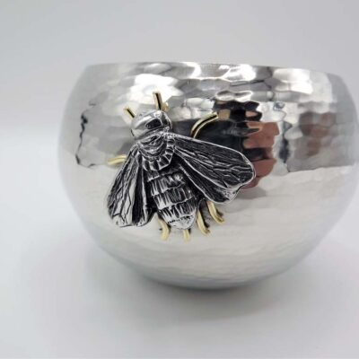 Small Pewter Bowl with Bee by Jim Stringer