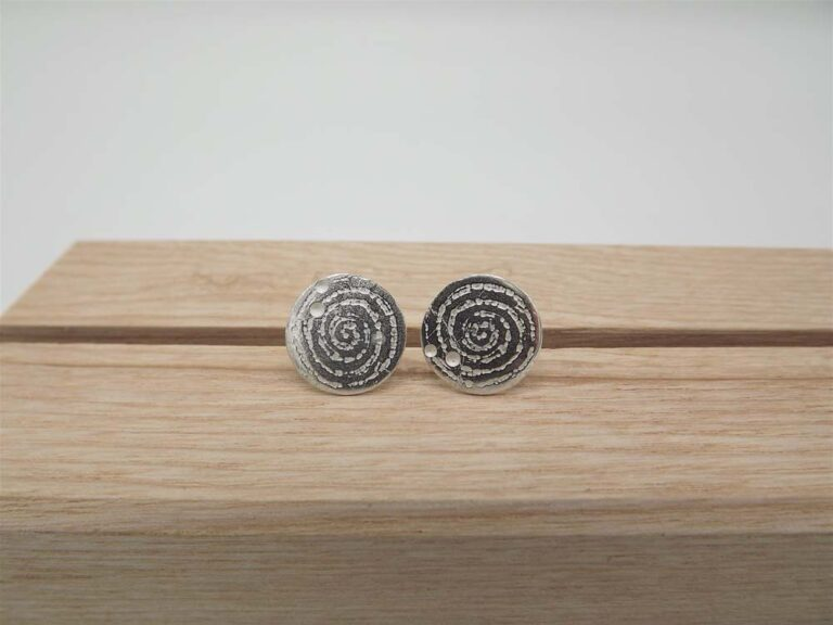 Sterling Silver Large Spiral Studs