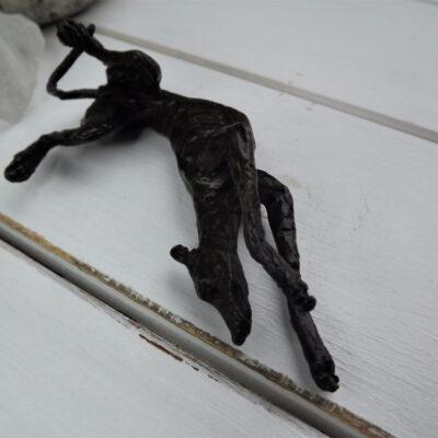 Greyhound on Side Bronze Sculpture