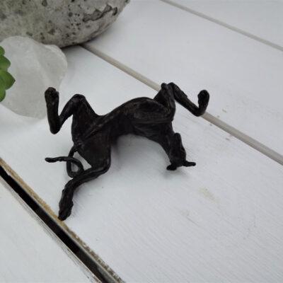Greyhound on Back Bronze Sculpture