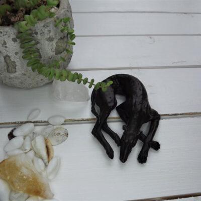 Greyhound Resting Bronze Sculpture