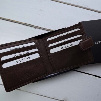 Leather and Tweed Wallet