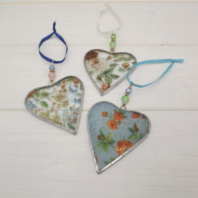 Clare Wainwright Stained Glass Small Heart