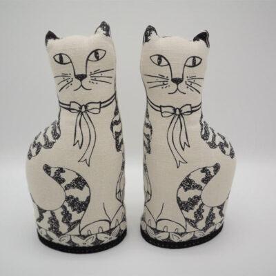 Jill Pargeter Linen Cats