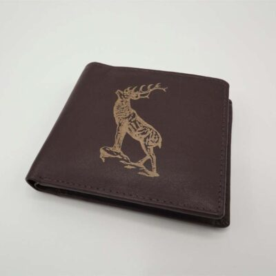 Leather wallet in dark brown by Leather Guild Studio