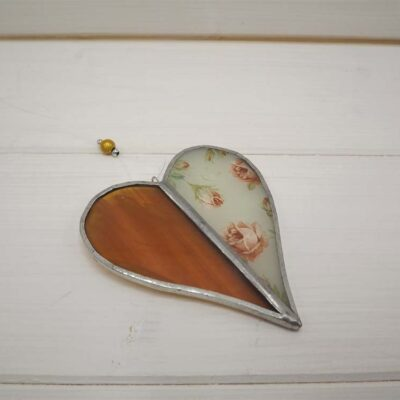 Clare Wainwright Two Tone Heart with Rose Decal